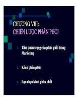 Bài giảng Marketing căn bản: Chương 8 - Quách Thị Bửu Châu