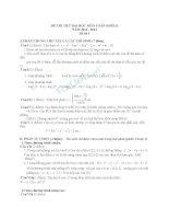 Tuyển chọn bộ Đề thi thử đại học môn Toán khối B 2014 kèm đáp án