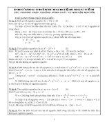 Các phương pháp thường dùng giải phương trình nghiệm nguyên