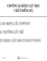 Bài giảng Vật lý đại cương chương 2
