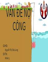 Nợ công  Việt nam những năm gần đây.