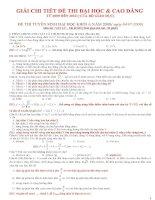 hướng dẫn giải chi tiết đề thi đại học môn  vật lý từ năm 2009 -2013