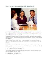 10 cách giới thiệu bản thân ấn tượng trong cuộc phỏng vấn