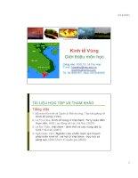 slide bài giảng môn kinh tế vùng - chương 1 giới thiệu môn học