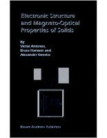 Antonov v et al electronic structure and magneto optical properties of solids