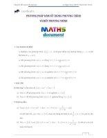 chuyên đề 9_ Phương pháp hàm số trong các bài toán tham số về phương trình, hệ phương trình, bất phương trình