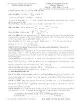 ĐỀ THI THỬ ĐẠI HỌC MÔN TOÁN LẦN 3 - 2014 - THPT HA TRUNG ( CO DAP AN CHI TIET )