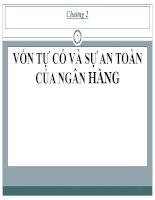 Bài giảng Quản trị ngân hàng: Chương 2 - PGS, TS. Trần Huy Hoàng