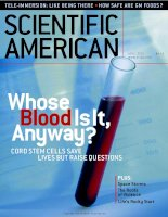 scientific american   -  2001 04  -  whose blood is it anyway