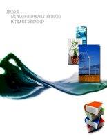 chương iii các phương pháp quản lý môi trường đô thị và khu công nghiệp