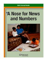 Math Concept Reader MCR g3 a nose for news and numbers