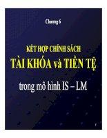 Bài giảng Kinh tế vĩ mô: Chương 6 - TS. Phan Nữ Thanh Thủy