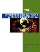 Tiểu luận: Sự vô hiệu hóa, chính sách tiền tệ, và hội nhập tài chính toàn cầu