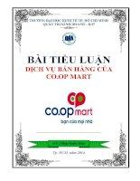 Quản trị chất lượng - Dịch vụ bán hàng của Coop Mart