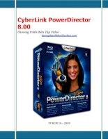 giáo trình hướng dẫn phần mềm làm viedeo cyberlink powerdirector