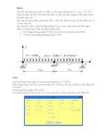 Bài tập tính điểm số 2 môn Phương pháp phần tử hữu hạn thầy Đức- Bách Khoa Đà Nẵng