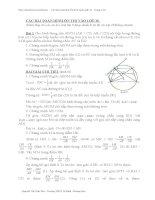 Các bài toán hình ôn thi tuyển sinh 10