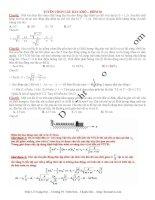 Tuyển chọn câu hỏi hay và khó vật lý phần 2