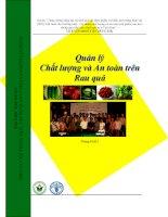 quản lý chất lượng và an toàn trên rau quả