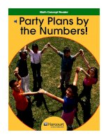Math Concept Reader MCR g3 party plans by the numbers!