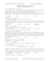 Giải chi tiết đề thi đh môn hóa khối b năm 2013
