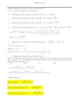 Tuyển tập những bài tập vật lí hay và khó(lời giải chi tiết)