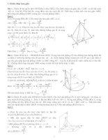 Giải hình học không gian bằng phương pháp tọa độ