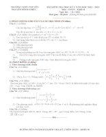 đề thi học kì môn toán lớp 10 tỉnh đồng tháp (đề 16)