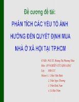 Nhu cầu mua nhà ở xã hội tại thành phố Hồ Chí Minh