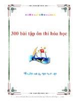 300 bài tập ôn thi đại học môn hóa