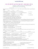191 CÂU HỎI ÔN TẬP THI HỌC KÌ 1 – SINH HỌC LỚP 12