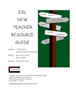 Adult Teacher Resource Guide