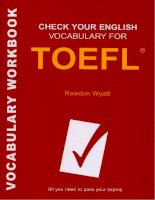 check your english vocabulary for toefl 3rd edition