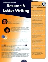 resume letter writing tips