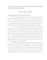 TÌNH HÌNH TÀI CHÍNH CÁC DOANH NGHIỆP VỪA VÀ NHỎ TRÊN ĐỊA BÀN TP HUẾ