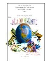 báo cáo bài tập môn tài chính quốc tế đô la hóa nền kinh tế