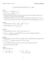 Tổng hợp đề thi môn toán cao đẳng và đại học các trường.
