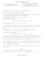 đề thi thử toán và đáp án của thpt lương thế vinh hn lần 2