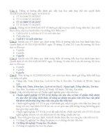 250 câu hỏi trắc nghiệm thi giáo viên giỏi