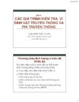 Bài giảng Các phương pháp nuôi cấy tế bào: Bài 4 - ThS. Nguyễn Thành Luân