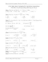 câu hỏi trắc nghiệm môn toán lớp 12