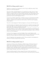 Good model IELTS essay