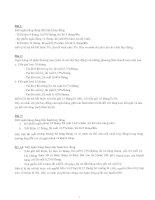 Bài tập môn ngân hàng thương mại (có lời giải, đáp án)