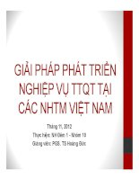 Tiểu luận: Giải pháp phát triển nghiệp vụ thanh toán quốc tế tại các ngân hàng thương mại Việt Nam