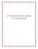 257 bài tập về hệ phương trình năm 2014