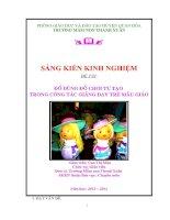 SKKN Mầm non 2014 - ĐỒ dùng, đồ chơi tự tạo trong dạy trẻ mẫu giáo