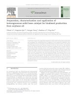 Preparation, characterization and application of heterogeneous solid base catalyst for biodiesel production from soybean oil