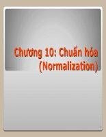 Chương 10 Chuẩn hóa (Normalization)