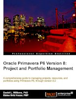 oracle primavera p6 version 8 project and portfolio management a comprehensive guide to managing