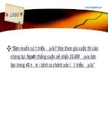 Slide quản trị tài chính FTU Chuong 2 time value of money